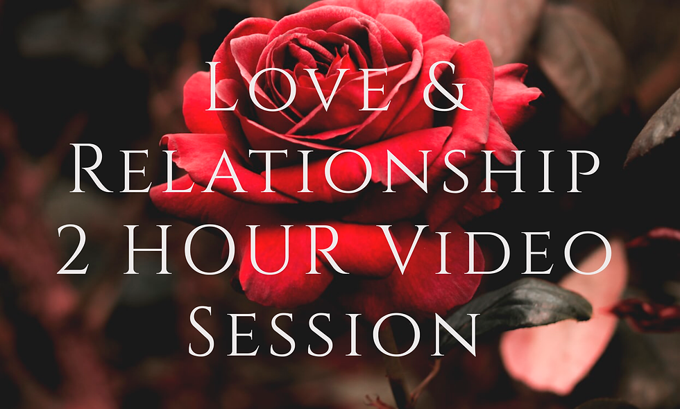 Love & Relationship 2 Hour Video Session (+ Shamanic Drum & Energy Healing)
