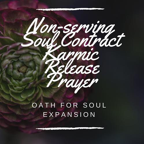 Karmic Contracts & Life Misfortunes (Release) Prayer (digital download)