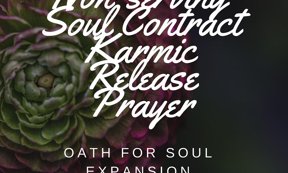 Karmic Soul Contracts & Misfortunes Removal (digital download)