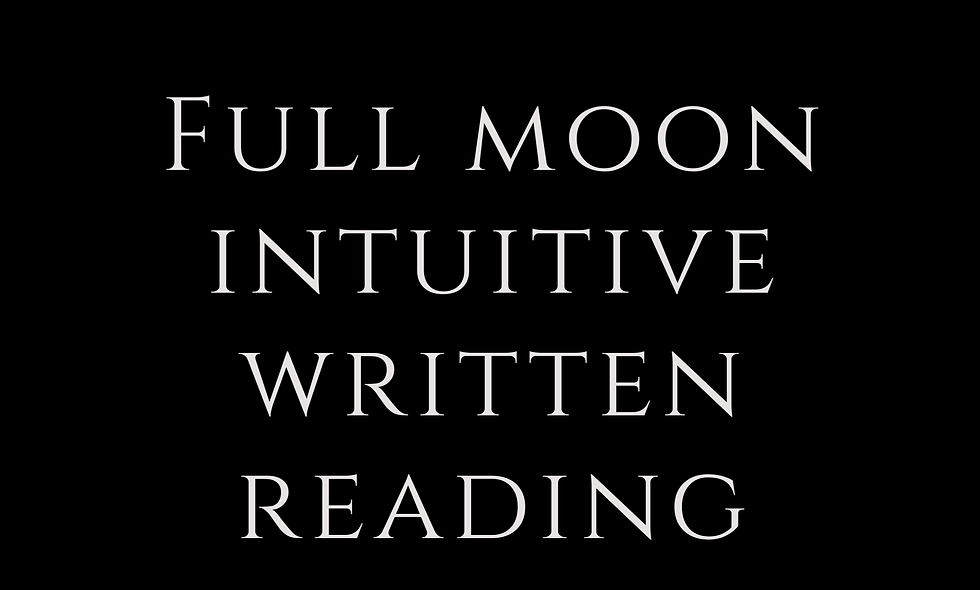 Full Moon Intuitive Reading