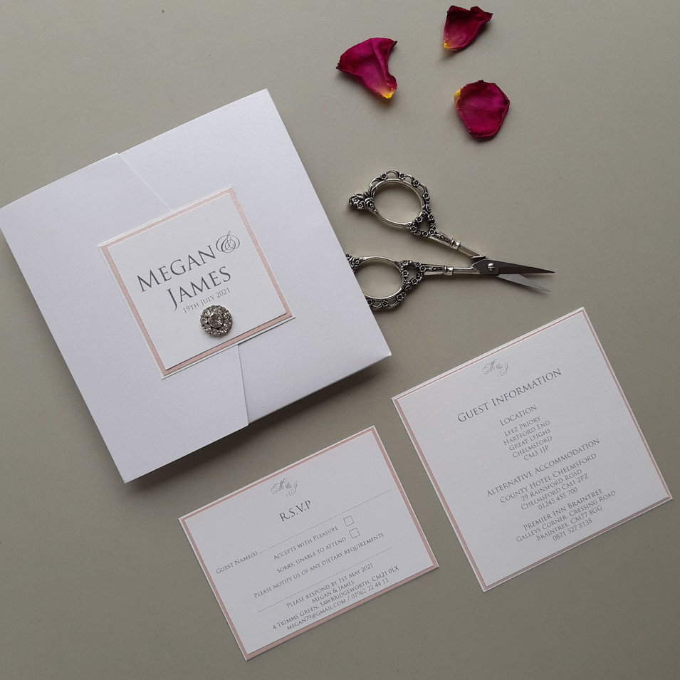 Megan Pocketfold Wedding Invitation