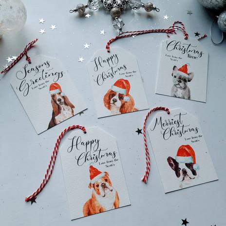 Mixed Christmas Dog Tags