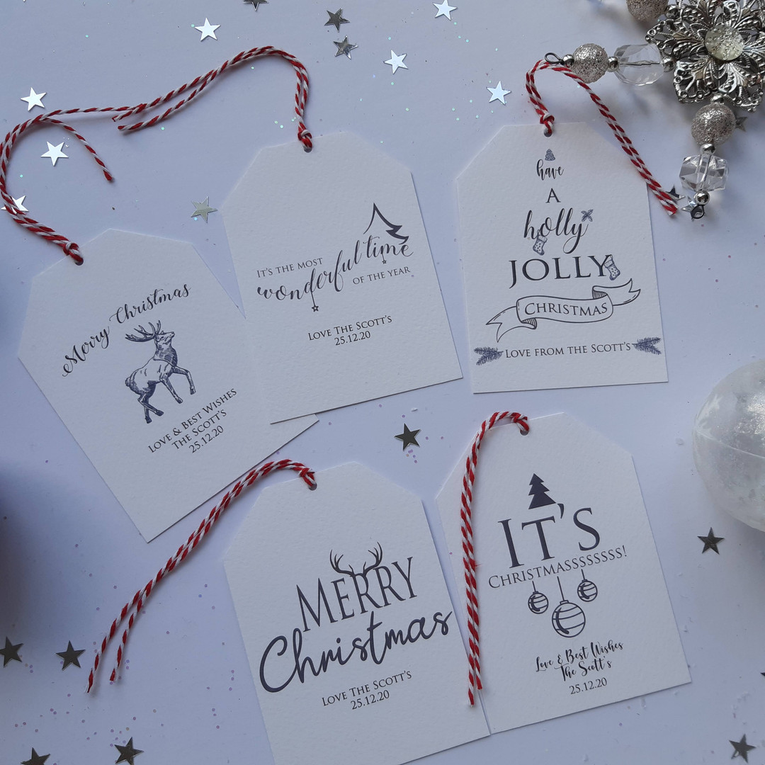 Personalised Typography Gift Tags
