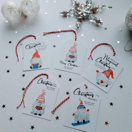 Christmas Gift Tags - Gnomes