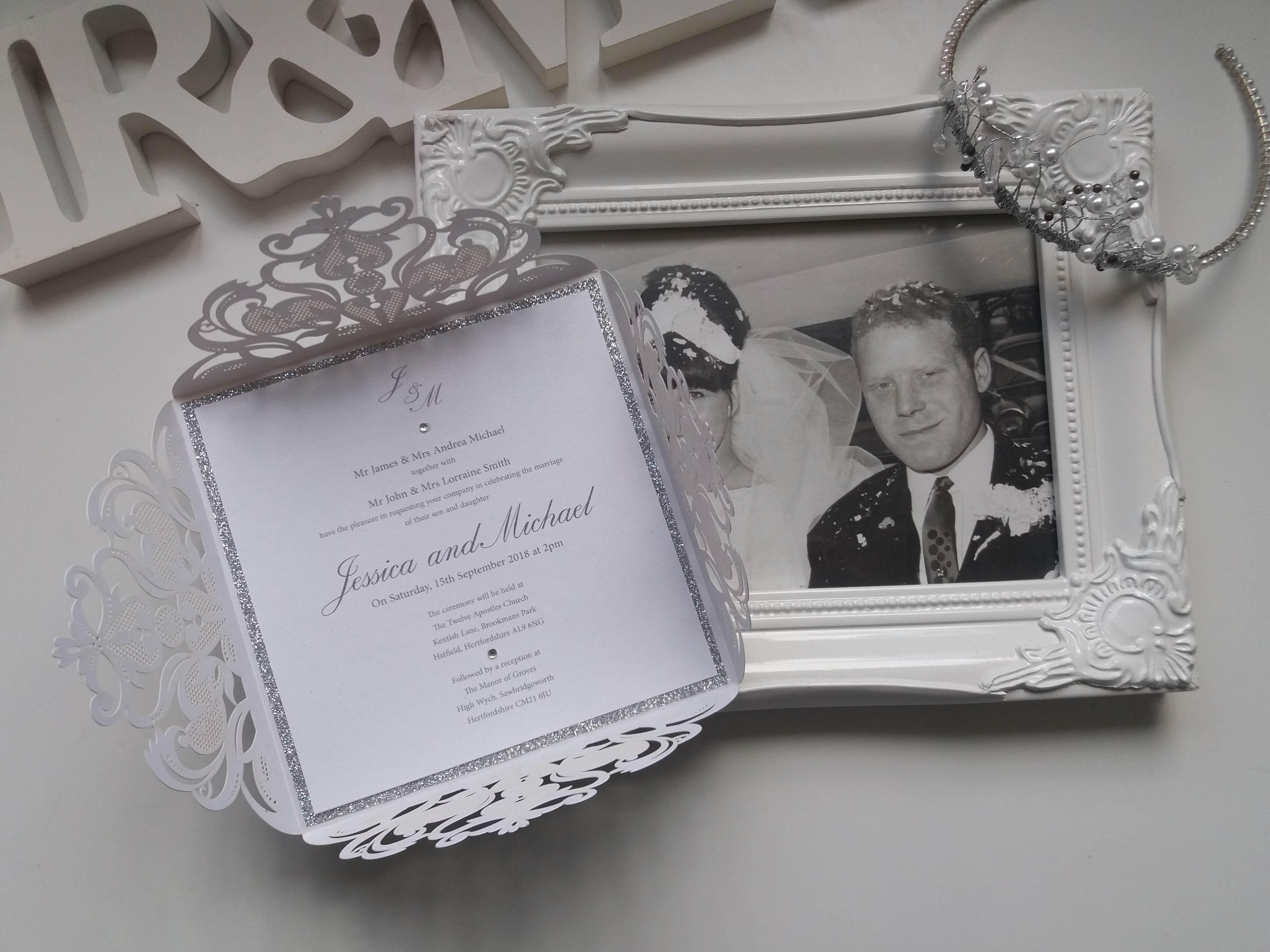 Lasercut Wedding Invitation - Dorothy