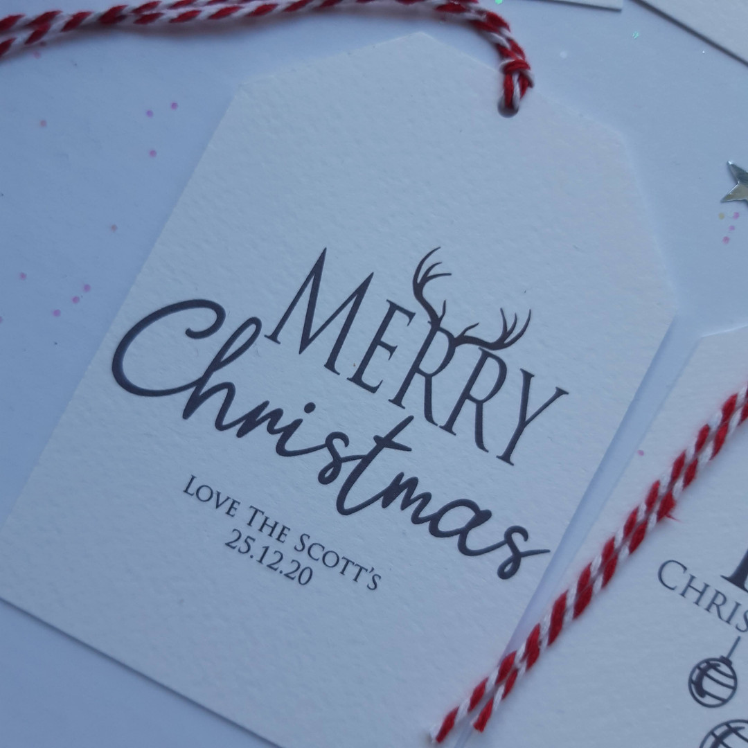 Merry Christmas Luxury Gift Tag