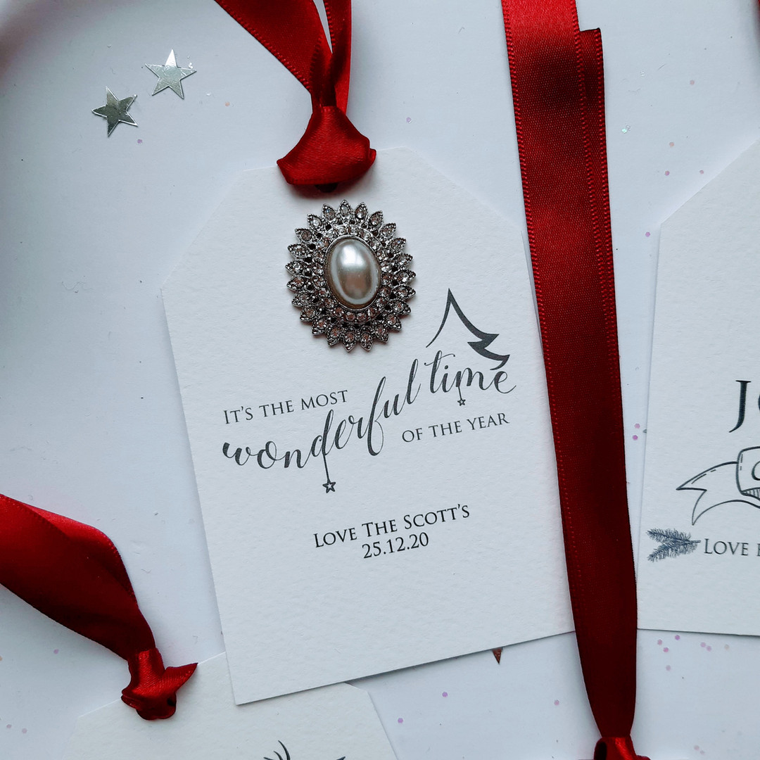 Wonderful Time of The Year Christmas Gift Tag
