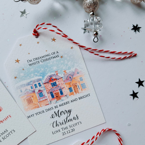Traditional Luxury Personalised Christmas Tag