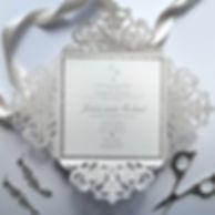 Luxury lasercut wedding invitation