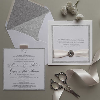 Textured wallet sytle wedding invitation