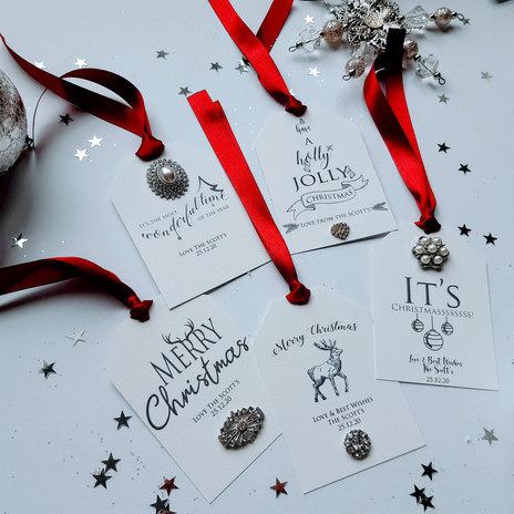 Embellished Christmas Tags Collection