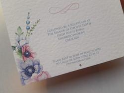 Beautiful Floral Christening Invite