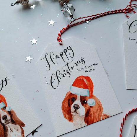 Christmas Gift Tag - Cavalier King Charles Spaniel
