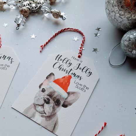 Christmas Gift Tag - French Bulldog