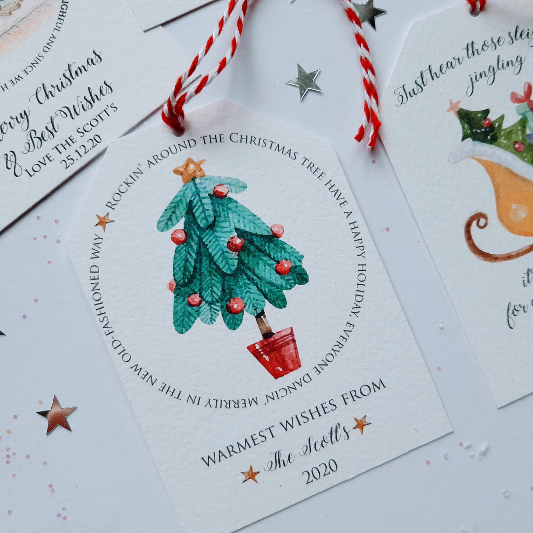 Traditional Luxury Christmas Tag