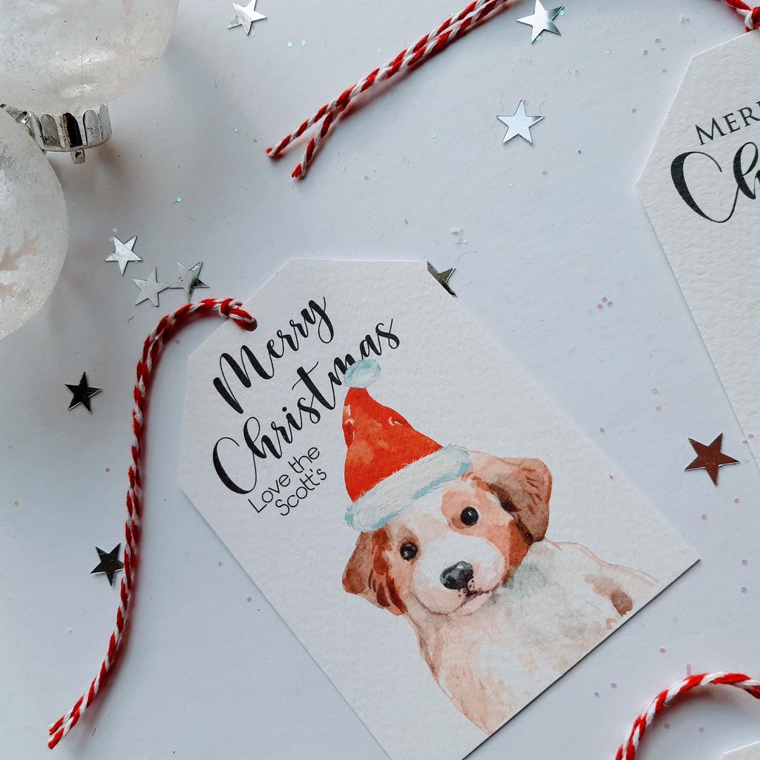 Christmas Gift Tag with Dog image