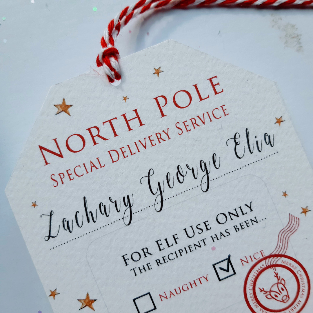 North Pole Tag Christmas Tag