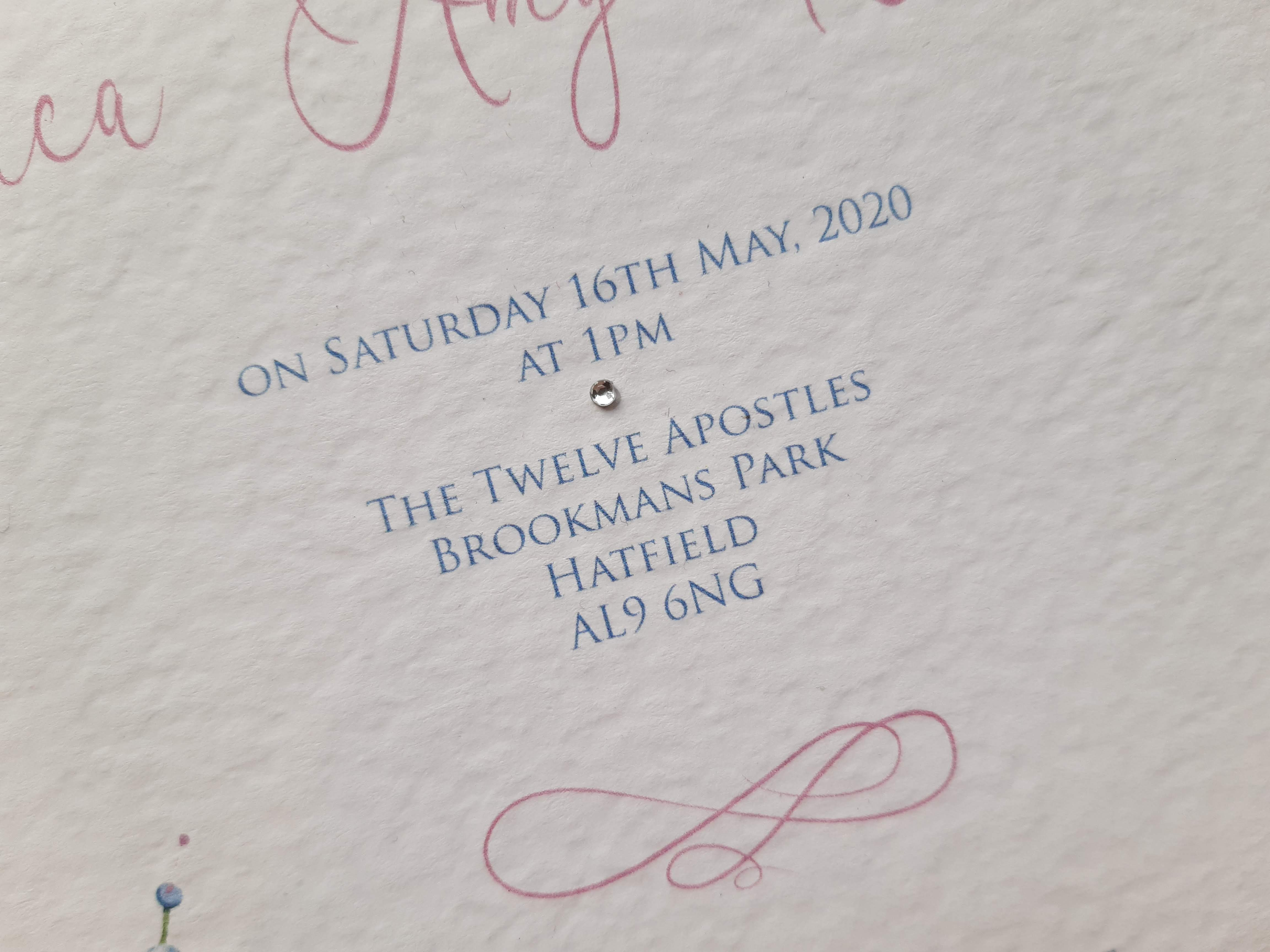 Beautiful Floral Christening Invite