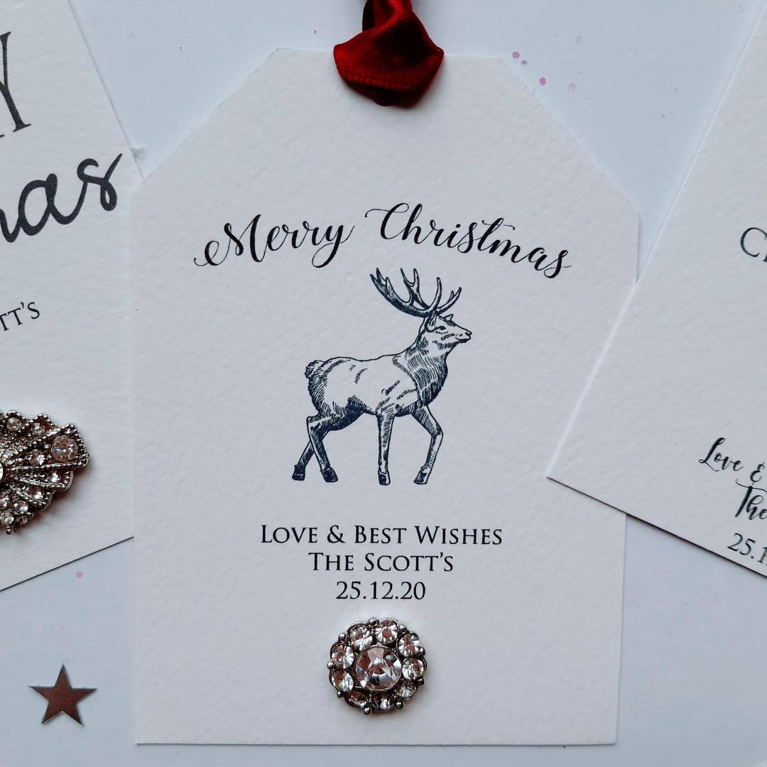 Stag Christmas Gift Tag
