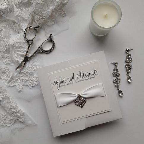 Sophie Pocketfold Wedding Invitation