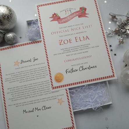 Letter from Santa gift box