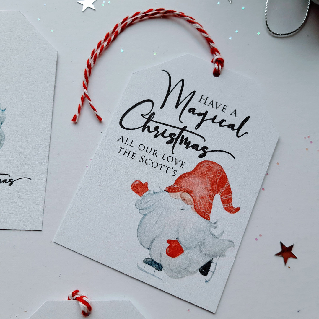 Christmas Gift Tag - Gnome 1