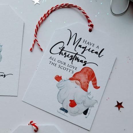 Christmas Gift Tag - Gnome 1