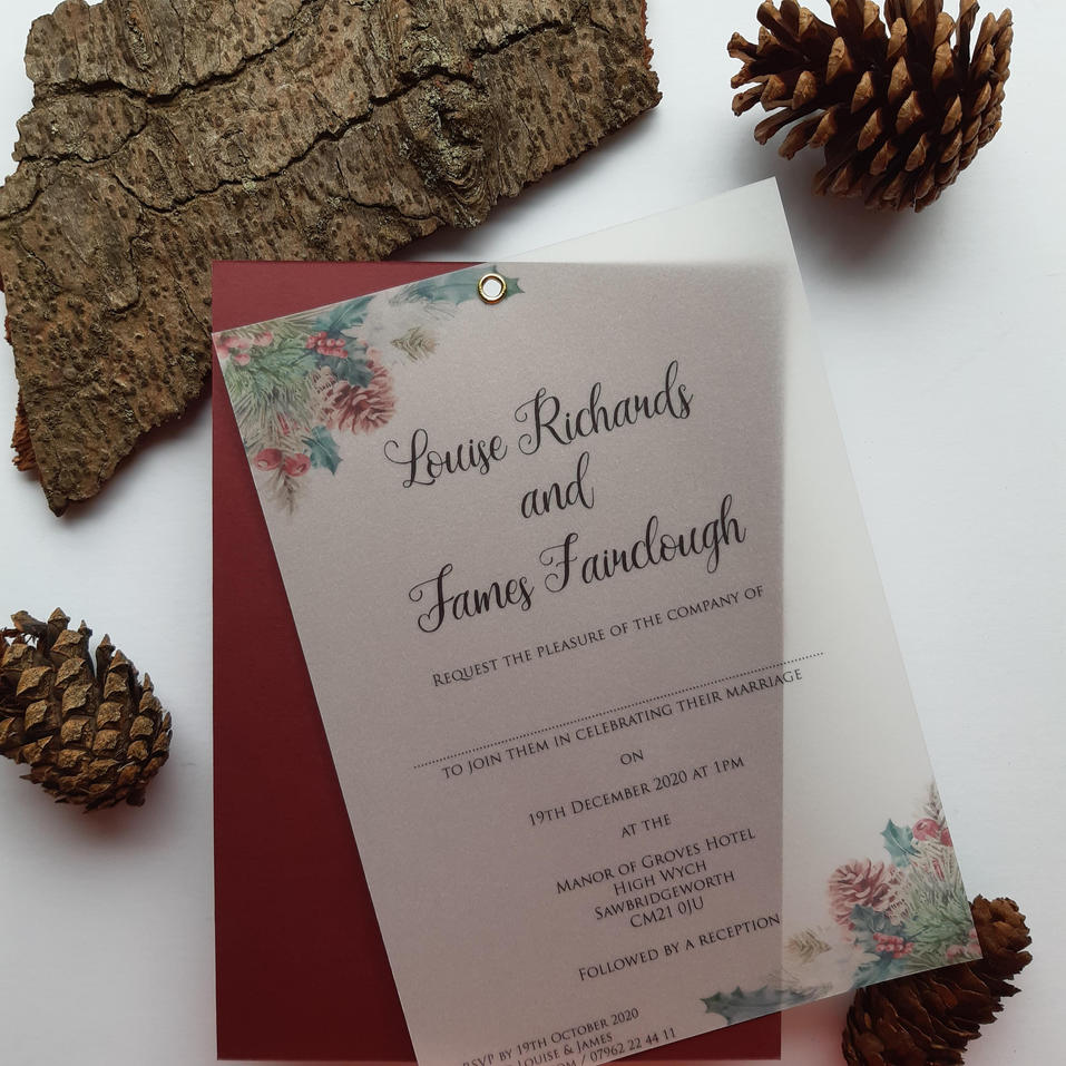 Noel - Christmas/Autumn Style Wedding Invitation