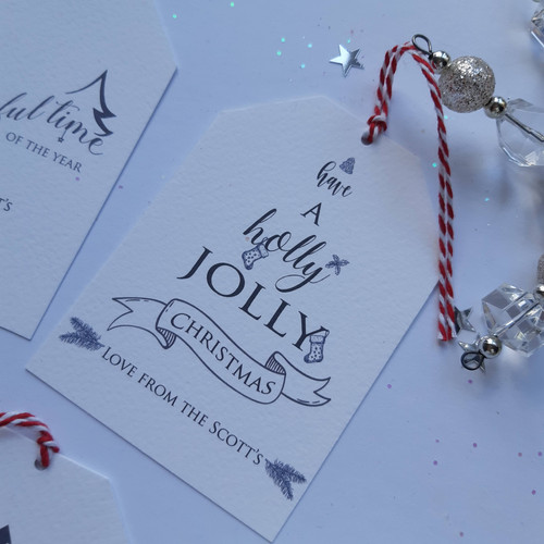 'Have a Holly Jolly Christmas' Luxury Gift Tag