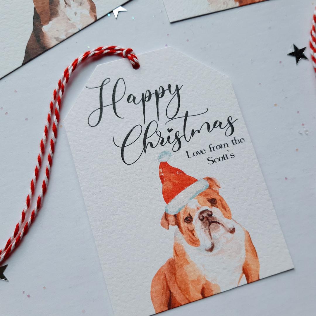 Christmas Gift Tag - British Bulldog