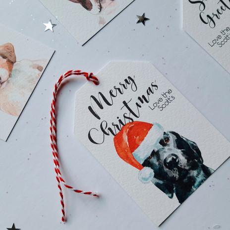 Christmas Gift Tag - Black Labrador