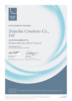 RJC COP Certificate_vMay2018 - Natasha C