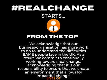 #Realchangefromthetop I pledge