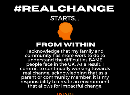 #RealChangefromwithin I pledge
