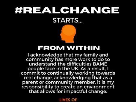 #RealChangefromwithin I pledge