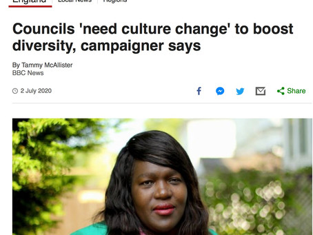 In the News: Councils 'Need Culture Change' to Boost Diversity, BBC News