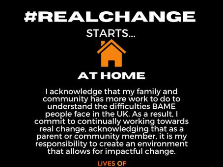 #Realchangeathome I pledge