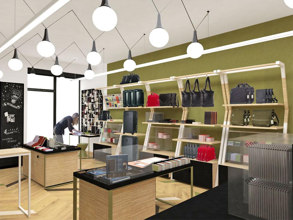 Moleskine, Retail experience