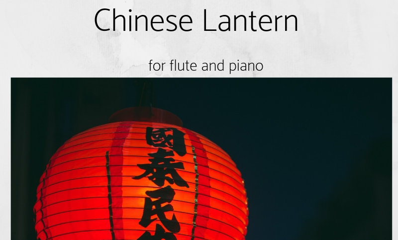 Chinese Lantern for flute and piano