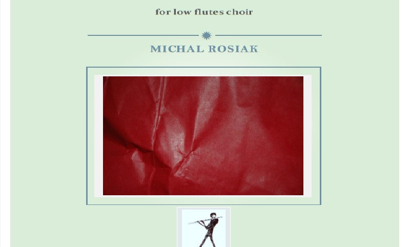 M. Rosiak - Lyric Song for low flutes