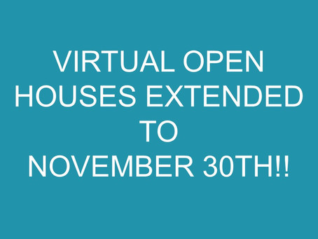 Deadline extended to participate in Virtual Open Houses!