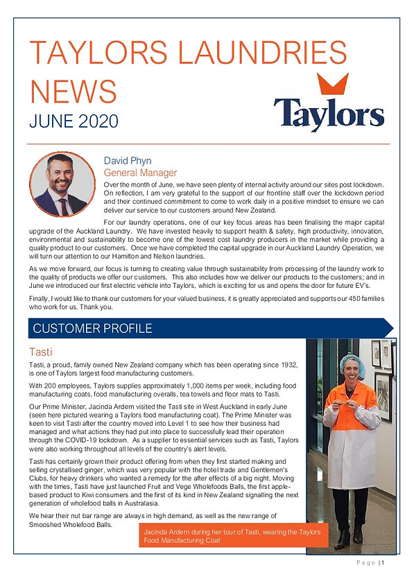 Taylors Laundries News - June 2020 (0000