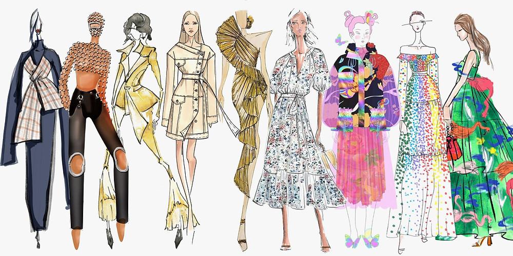 NYFW Fashion collection illustrations