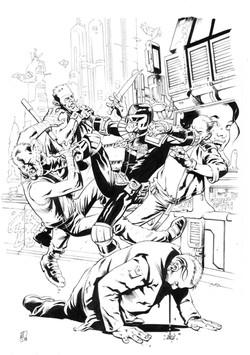 Dredd cover#1inks