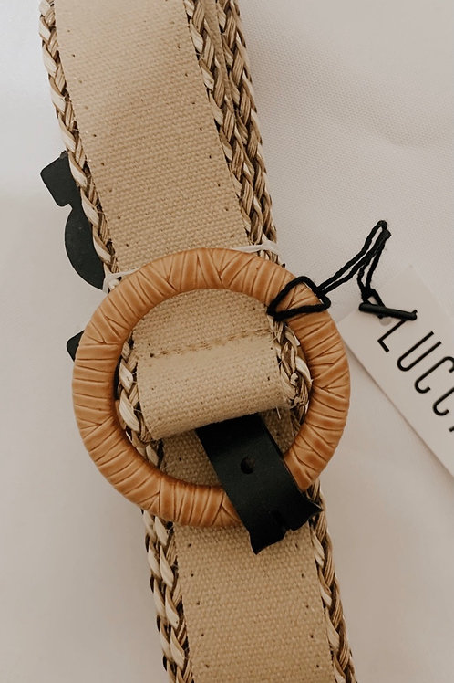 Tied Up Taupe Belt