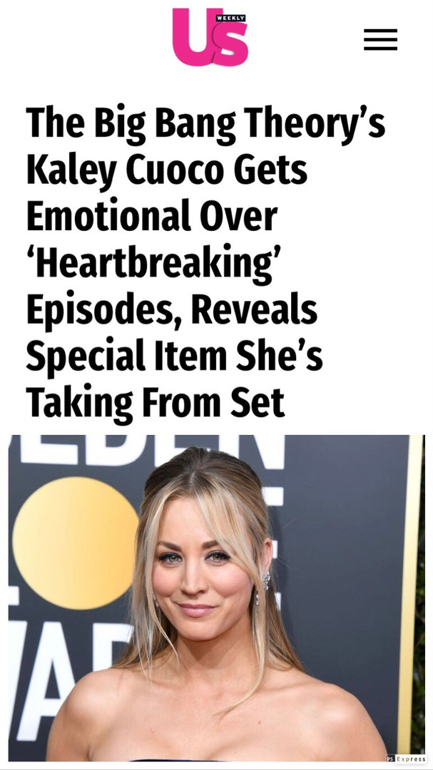 Kaley Cuoco on the end of an era