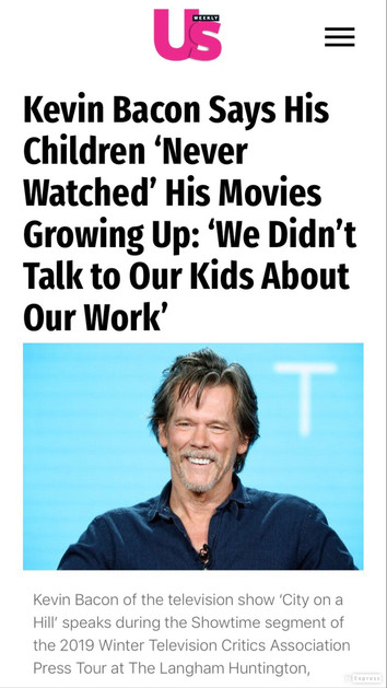 Kevin Bacon- US Weekly