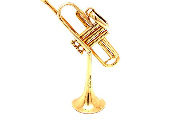 "Cartier 18K Yellow Gold ""Dizzy Gillespie"" Trumpet Pendant"