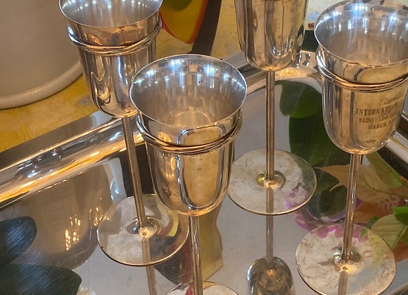"Cartier "" Trinity Collection"" Silver Champagne Flute"