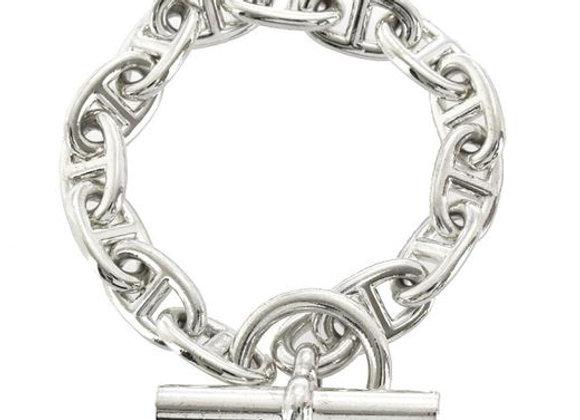 Hermès Chaîne D'ancre Silver Bracelet